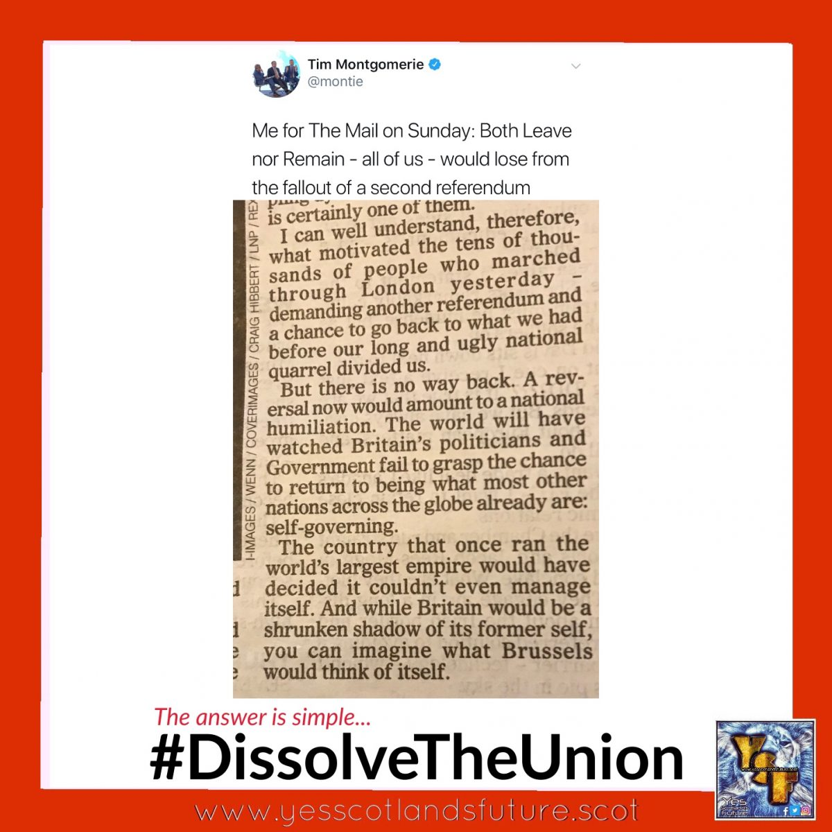 Dissolve The Union