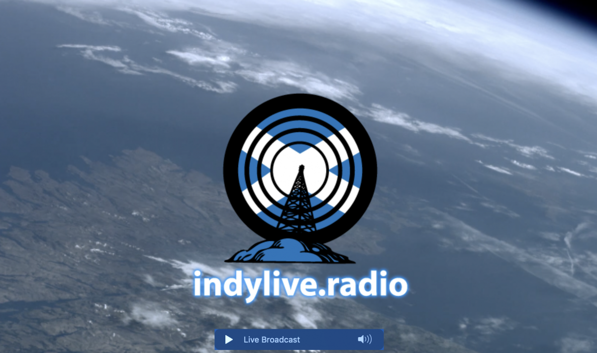 Support Indylive.Radio  -Peace, love and Scottish Independence